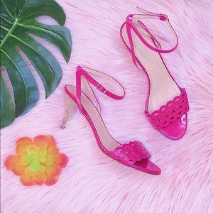 Pink Patent J.Crew Heel Sandals Size 6 1/2